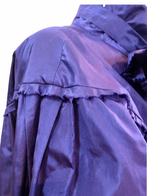 Chanel Contemporary Purple Taffeta Evening Coat with Oversize Bow Detail C 5 of 8