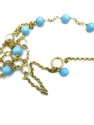 Chanel Faux Pearl and Glass Bead Sautoir Necklace CARTOUCHE 4 of 4