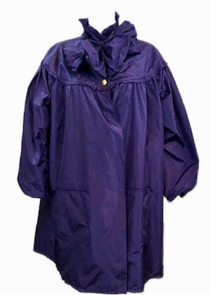 Chanel Contemporary Purple Taffeta Evening Coat with Oversize Bow Front 1 of 8