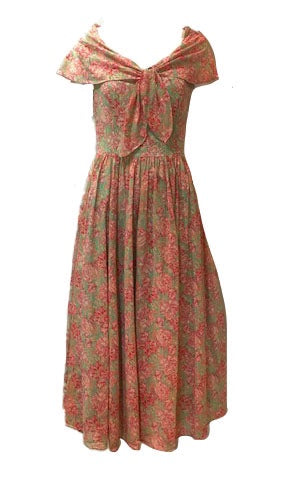 80s Laura Ashley Ditzy Floral Sun Dress 1 of 5