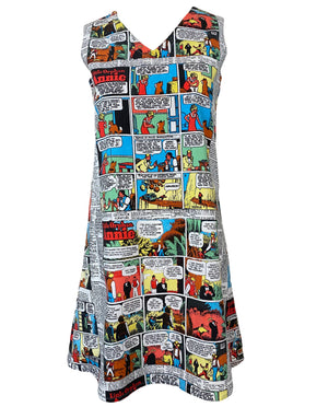 Sunday Comic MIni Dress Front 1 of 4