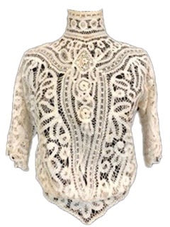 Edwardian Battenburg Lace Blouse Front 1 of 4