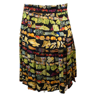 Nicole Miller  90s Silk Foodie Pleated Mini Skirt BACK 2 of 4