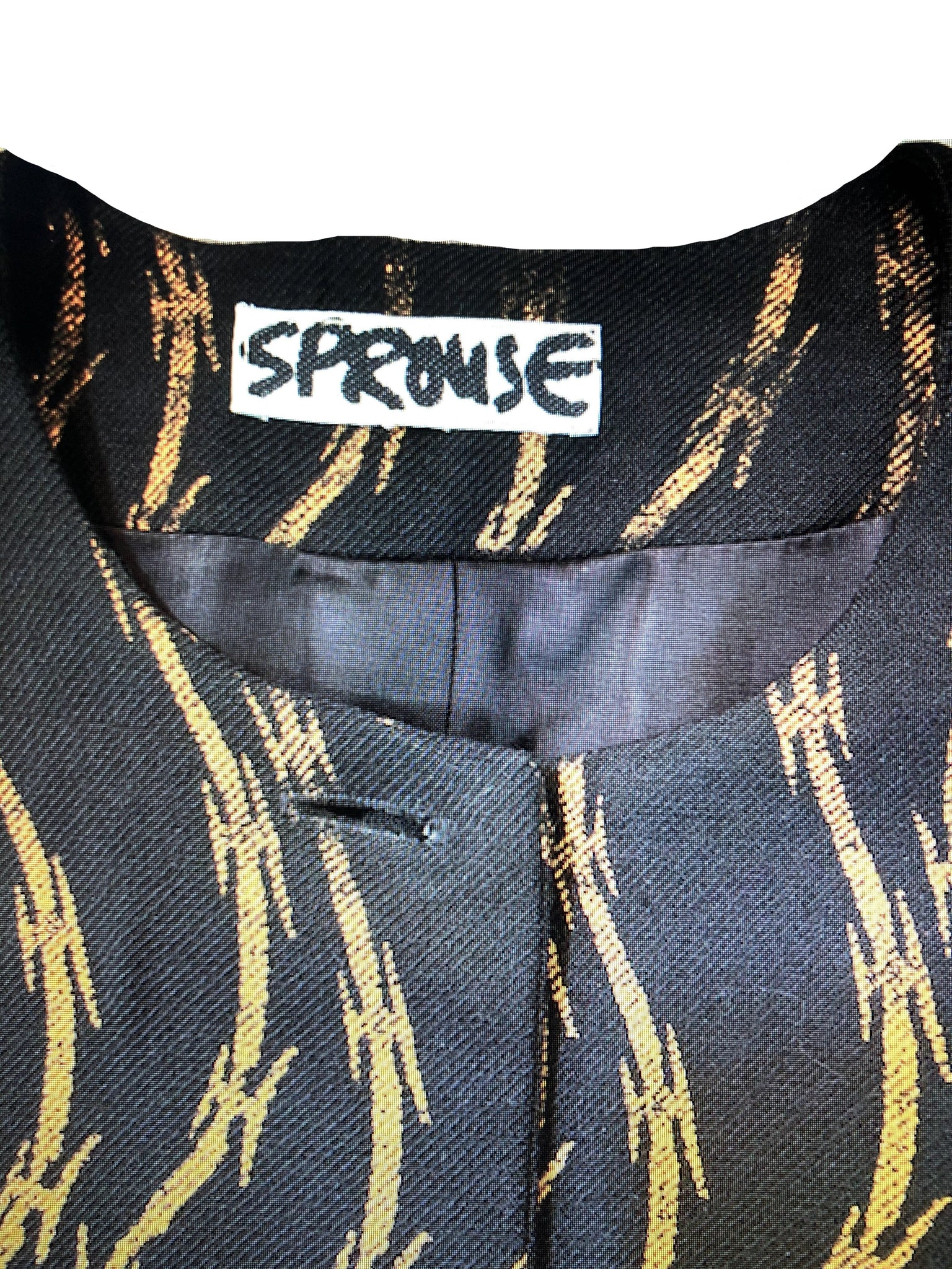 Stephen Sprouse Iconic Barbed Wire Print Jacket LABEL 4 of 4