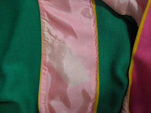 Paraphernalia 60s Kelly Green and Hot Pink Jersey Dress 5 of 6