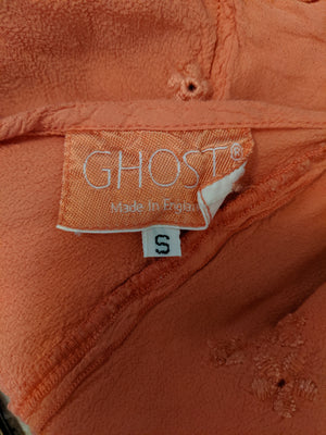 Ghost 90s  Pale Orange Crepe Wrap Blouse   3 of 3