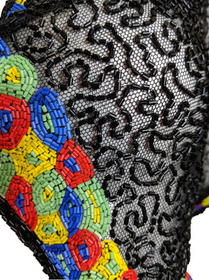 30s Black Net Deco Beaded Bolero DETAIL 4 of 4
