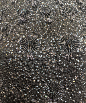 60s Black Beaded Cocktail Shell DETAIL 4 of 4