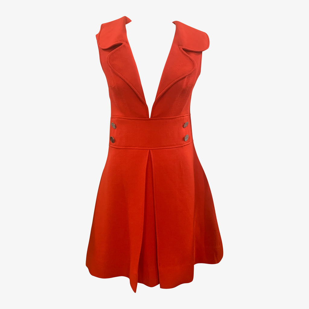 Louis Feraud 60s Red Mod Dress FRONT 1 of 6