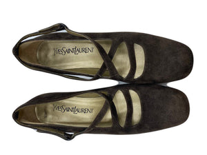 70s YSL Brown Suede Mary Jane Shoes 3 of 3