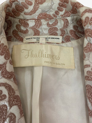 Thalhimers 60s Metallic Brocade Dress and Coat Ensemble LABEL 10 of 10