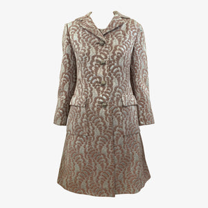 Thalhimers 60s Metallic Brocade Dress and Coat Ensemble ENSEMBLE FRONT 1 of 10