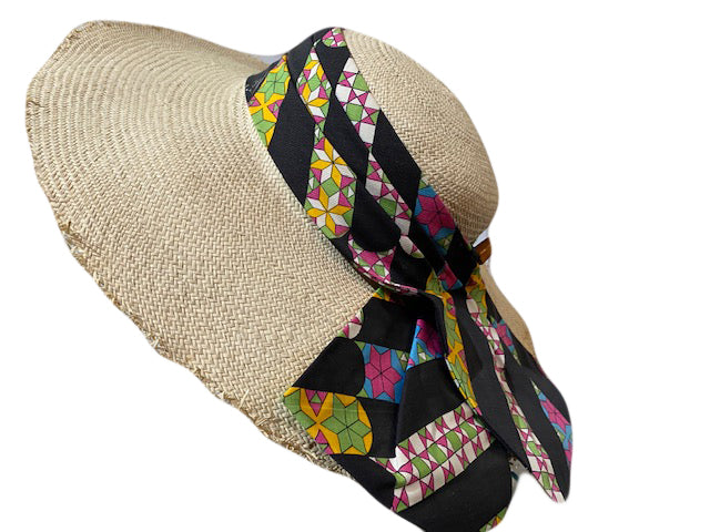 60s Rose Marie Reid Straw Summer Hat with Pucci band  2 of 4