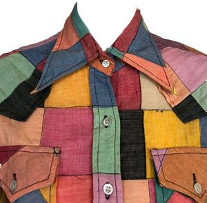 70s Patchwork Button Down Western Shirt Detail A 3 of 5