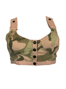 90s Camouflage Bra Top FRONT 1 of 5