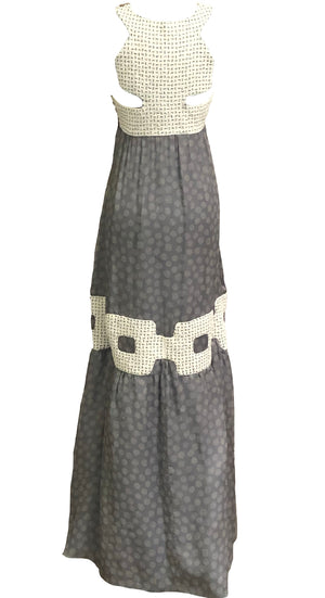 Missoni Contemporary Grey Chiffon Beaded Gown BACK 3 of 6