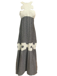 Missoni Contemporary Grey Chiffon Beaded Gown FRONT 1 of 6