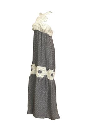 Missoni Contemporary Grey Chiffon Beaded Gown SIDE 2 of 6