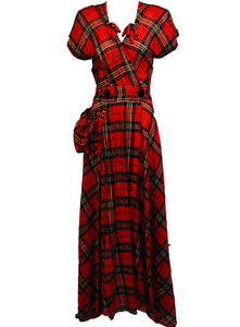 40s Dressing Gown Red and Black Plaid  FRONT 1 of 5Dressing Gown  FRONT 1 of 5
