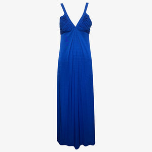 Loris Azzaro Gown Electric Blue jersey  FRONT 1 of 4