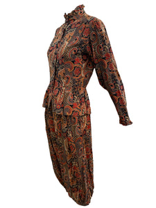 70s Popi Paisley Neo Victorian Ensemble FRONT IMAGE
