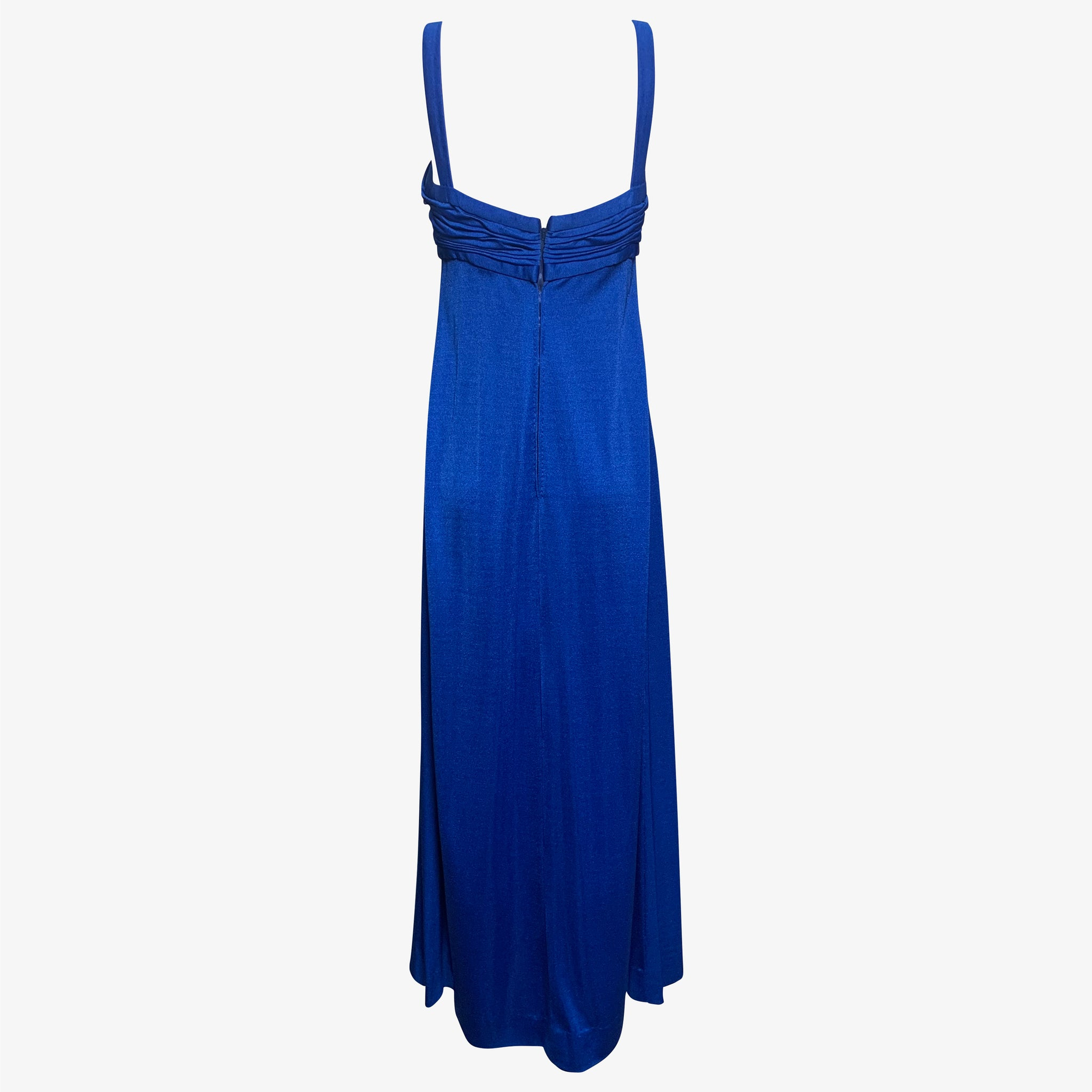 Loris Azzaro Gown Electric Blue jersey  BACK 2 of 4
