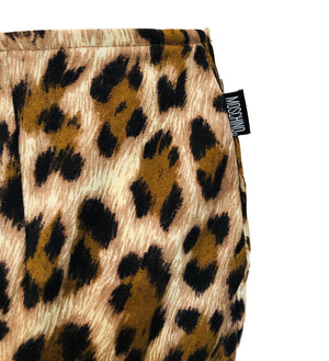 Moschino 90s Leopard Print Stretch Pencil Skirt With Ruffled Hem  DETAIL 3 of 5