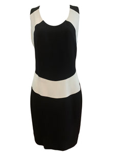NIcole Miller 90s Black and White Op Art Dress FRONT 1 of 4