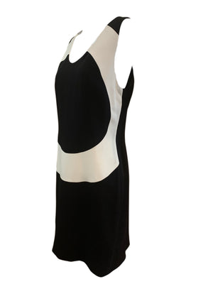 NIcole Miller 90s Black and White Op Art Dress SIDE 2 of 4