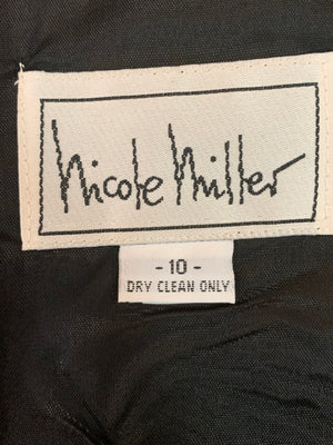 NIcole Miller 90s Black and White Op Art Dress LABEL 4 of 4