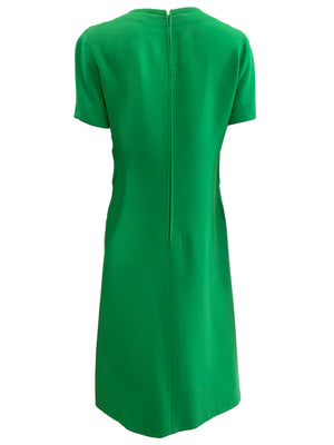 Balmain couture 60s Dress Lime Green Mod BACK 3 of 5