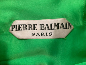 Balmain couture 60s Dress Lime Green Mod LABEL 5 of 5