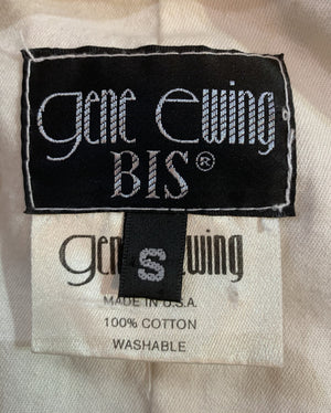 Gene Ewing 80s Blazer White and Red Striped with Gold Thread  LABEL 5 of 5