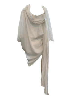 Claude Montana 80s White LInen Tunic BACK 3 of 4