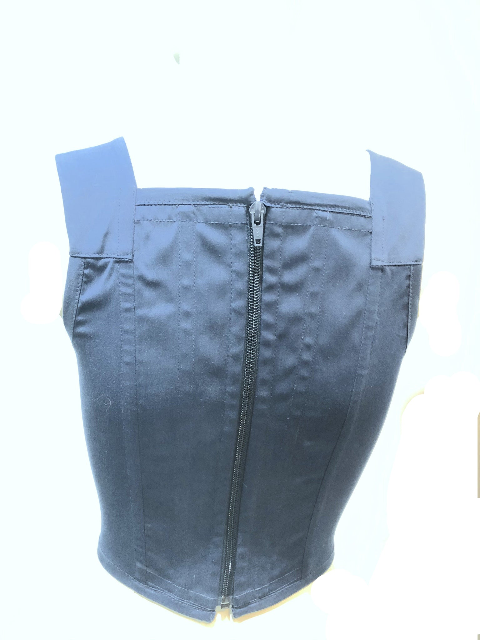 Vivienne Westwood Blue Corset Top with Logo BACK 2 0F 4
