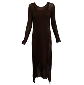 Gaultier Sexy Brown Knit Body Con  Full Length Tunic  FRONT 1 of 6
