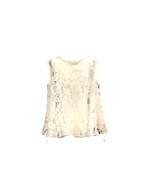 Patrick Kelly 90s White Lace Trapeze Top  BACK  2 of 6