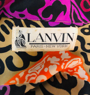 Lanvin  Dress 70s Wild Graphic Button Front LABEL 5 of 5