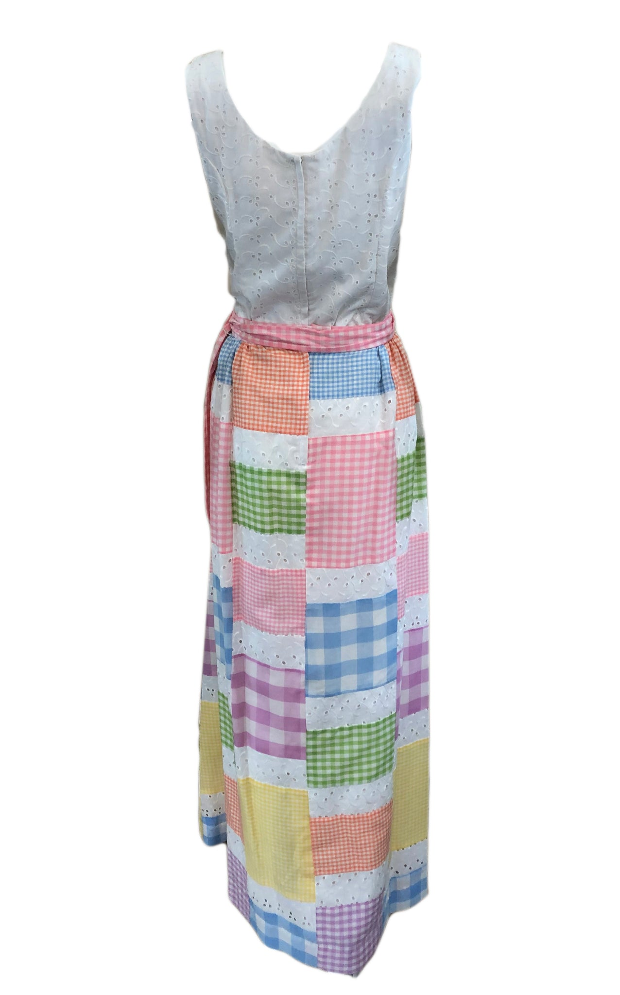 70s Midge Grant Pastel Patchwork Summer Ensemble BACK 2 of 5