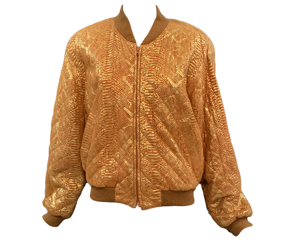 Begedor quilted metallic bomber front #1