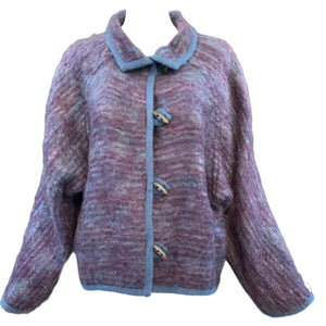 Missoni 70s Chubby Purple Blue Cardigan  Front #1 of 4