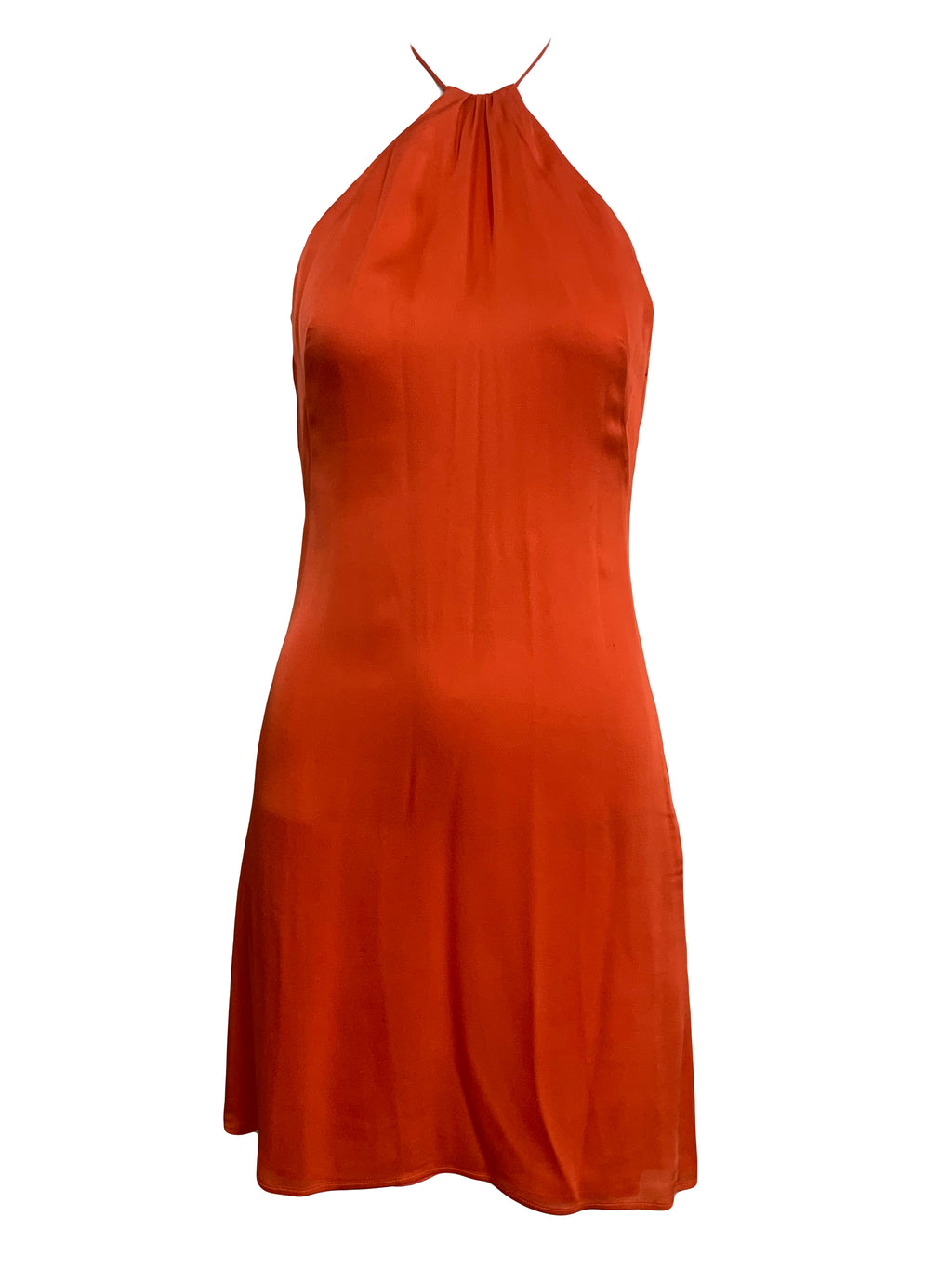 Valentino Orange Silk Mini Dress FRONT 1 of 4