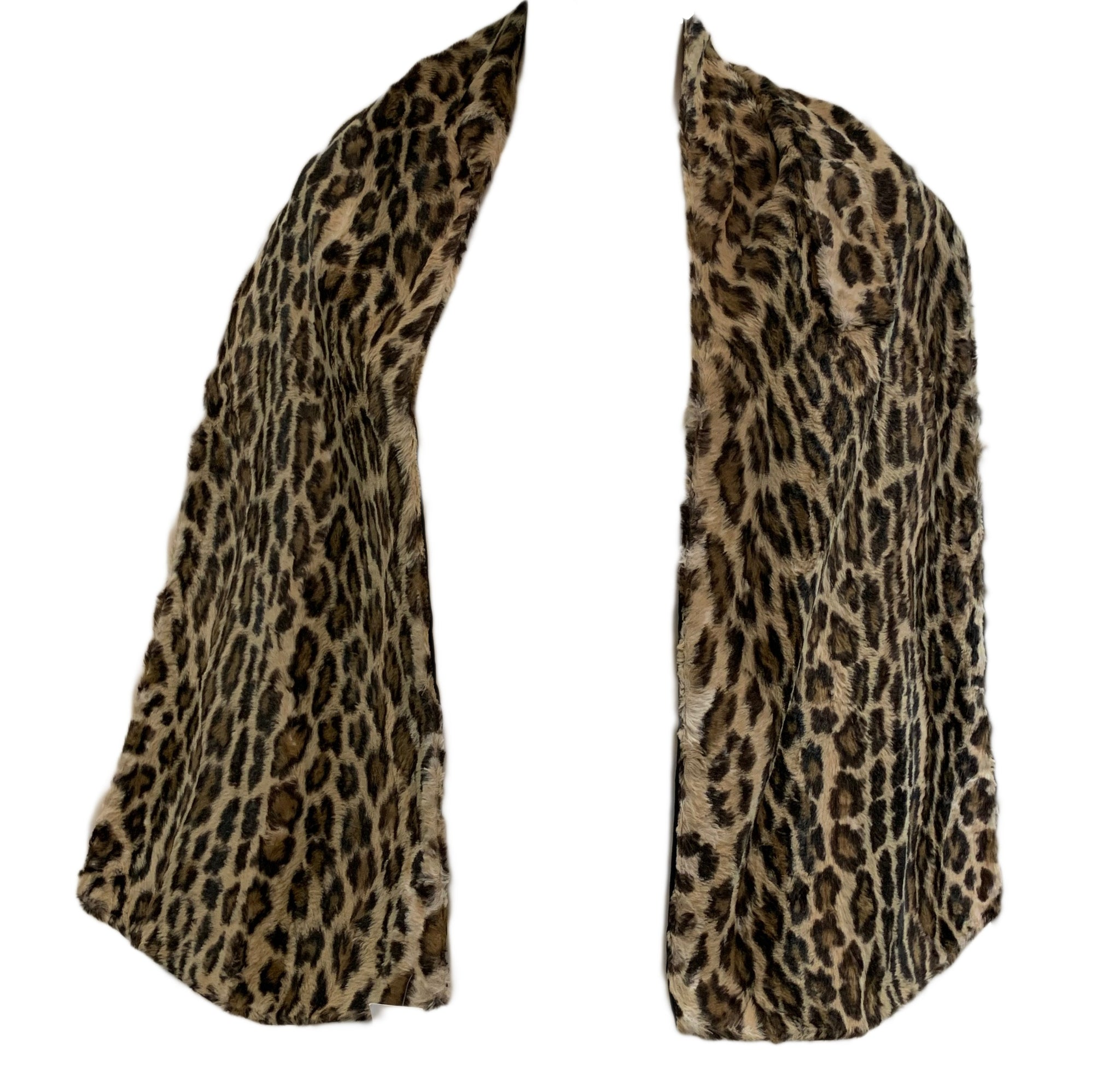 80s Norma Kamali Faux  Fur Leopard print Neck Scarf 2 of 2