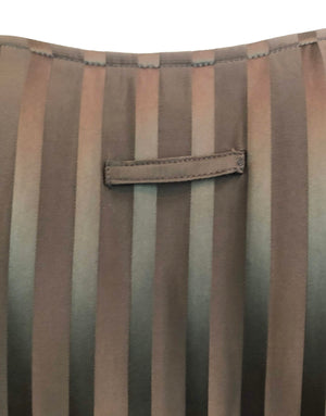 Jean Paul Gaultier 2000s Brown Silk Striped Maxi 3 of 5