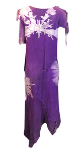 60s Sant Angelo 4 Piece Purple Suede Fringed Tie Dye Ensemble  1 of 6