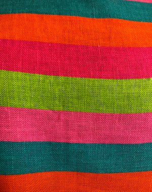 60s Candy Colored Striped Beatnik Shift Dress DETAIL 6 of 6