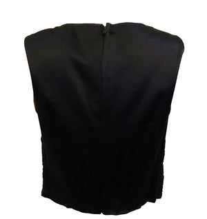 Valentino Sheer Black Blouse, back