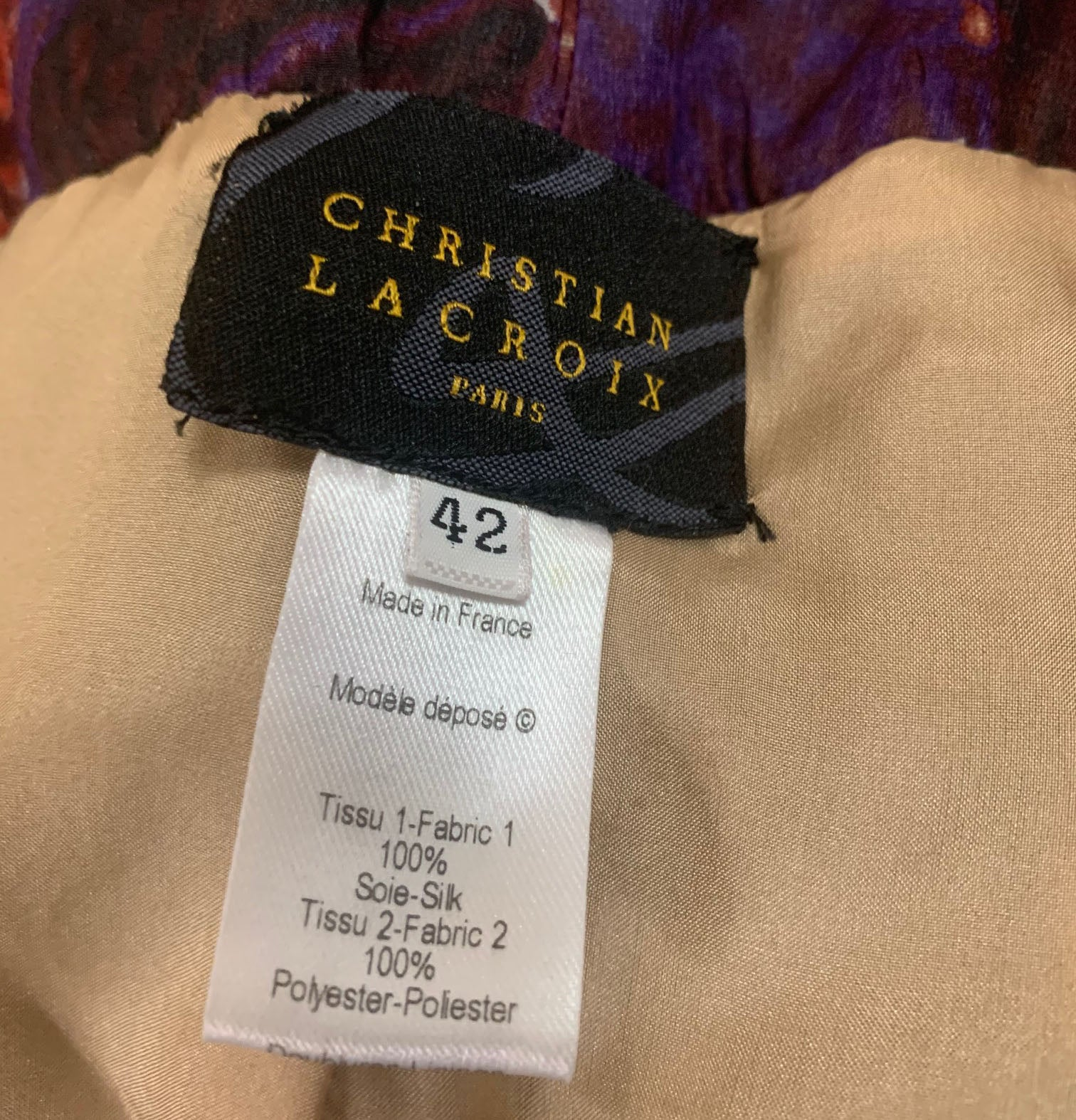 Christian Lacroix Boldly Printed Strapless Gown LABEL 5 of 5