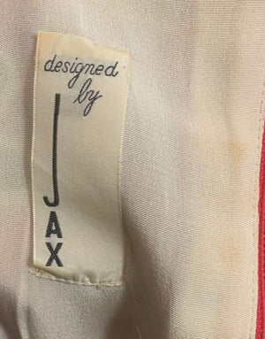 Jax 60s Red, Pink and Purple Floral Shift dress LABEL 4 of 4