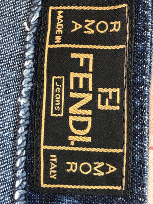 90's Fendi Studded Denim Ensemble